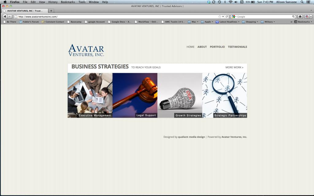 Marketing direction, website design, custom graphics.