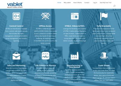 Branding, Web Design, Video Prod. – vablet & Signage