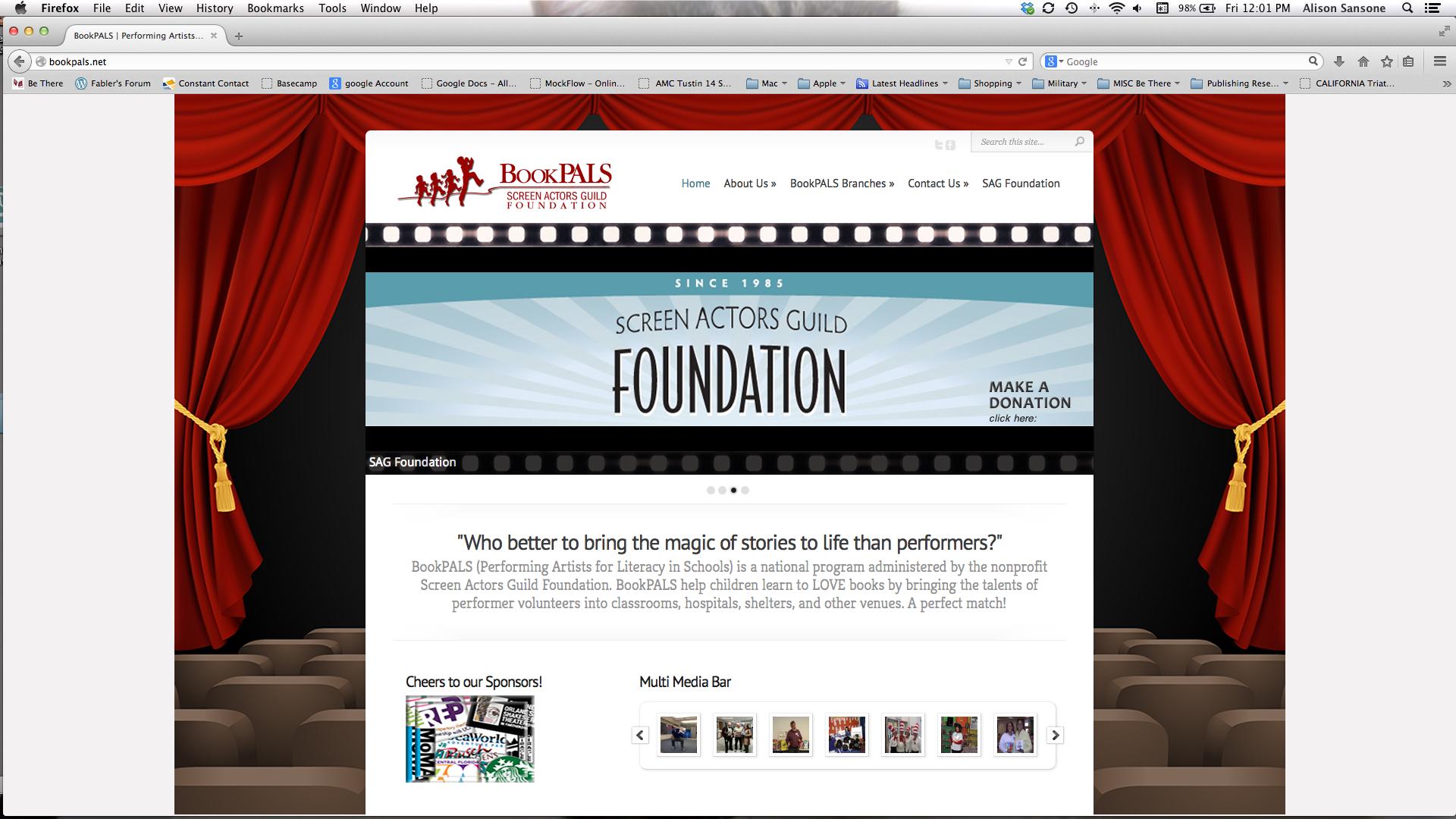 Web Design – BookPALS/SAG Foundation