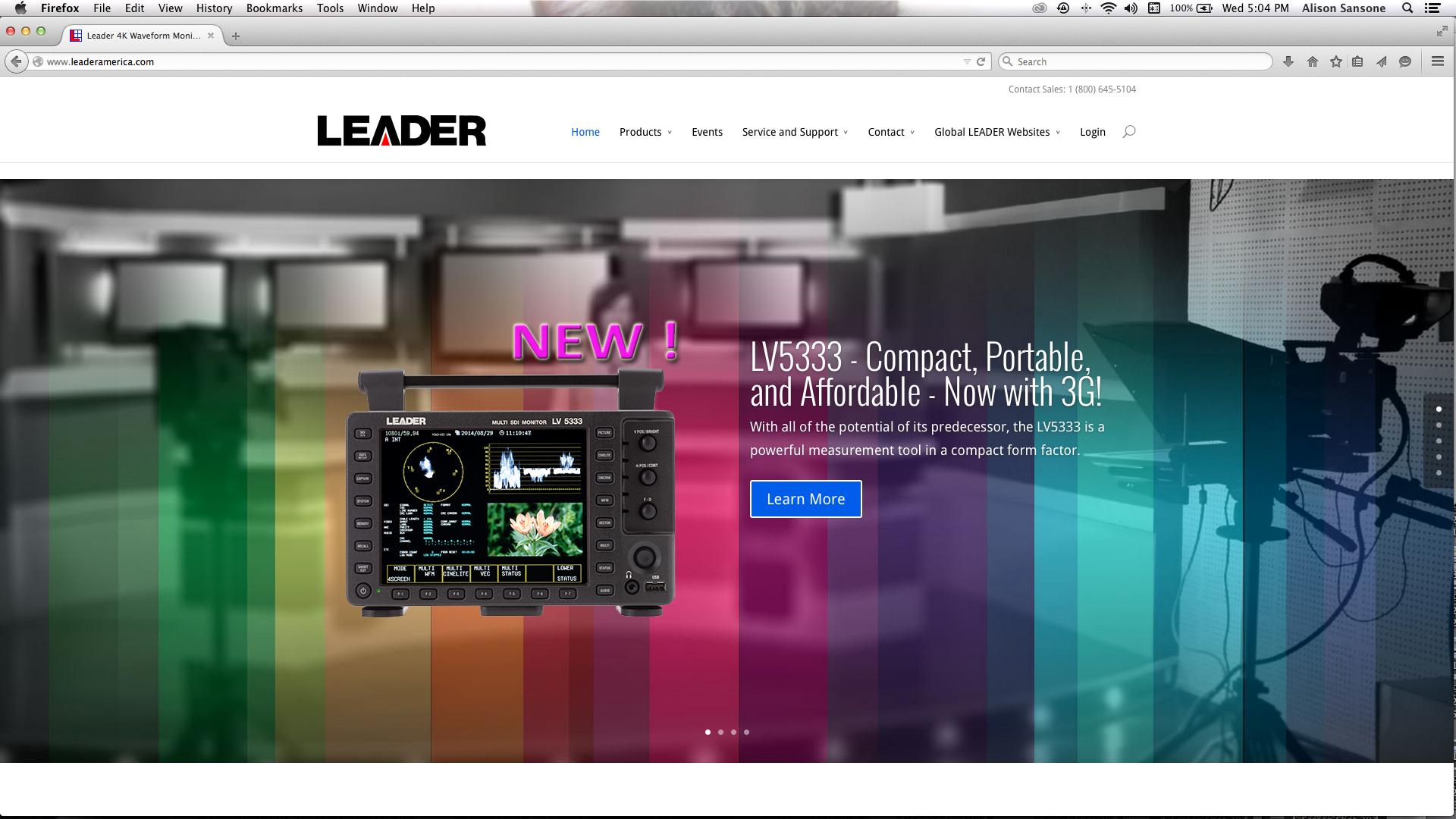 Leader Instruments, Inc. on qualiant media