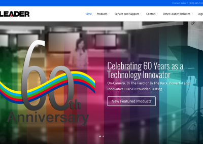 Brand Refresh, Web Design – Leader Instruments, Inc.