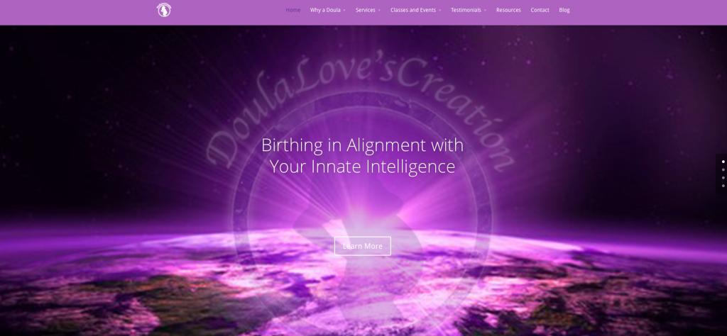 Modern Design Makeover and Strategic Marketing for DoulaLovesCreation