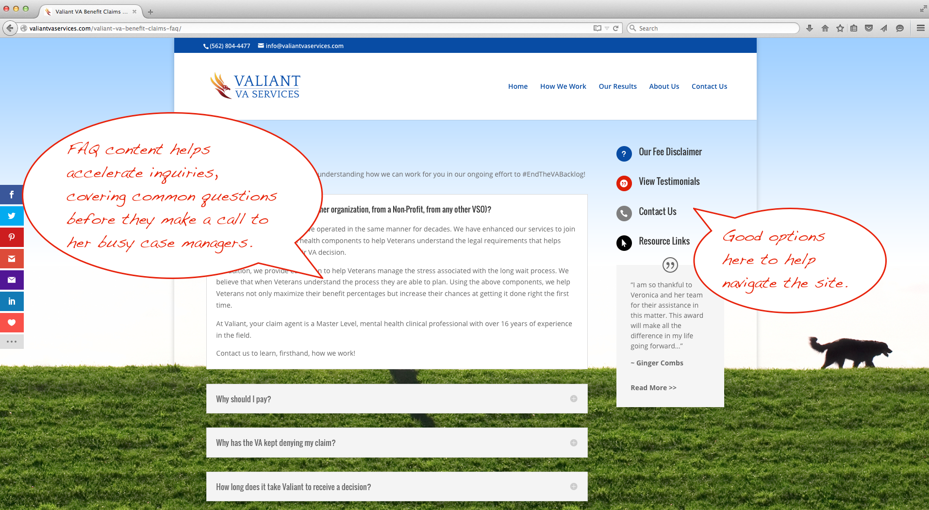 Another Awesome qualiant project - Valiant VA Services 4