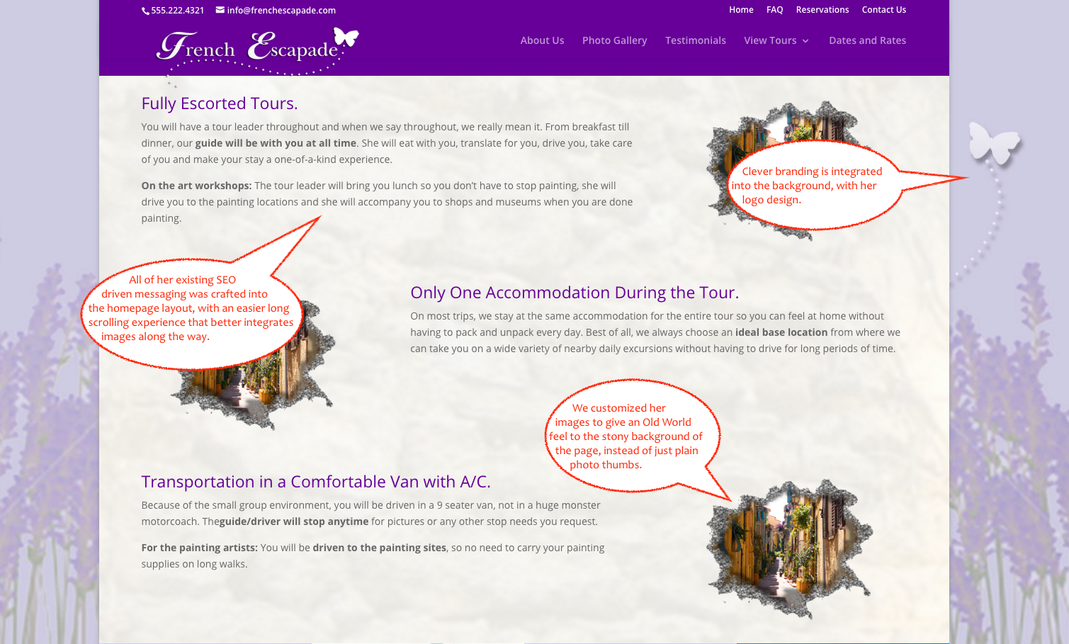 French Escapade Home Balance Text - Another Awesome qualiant Web Design Project