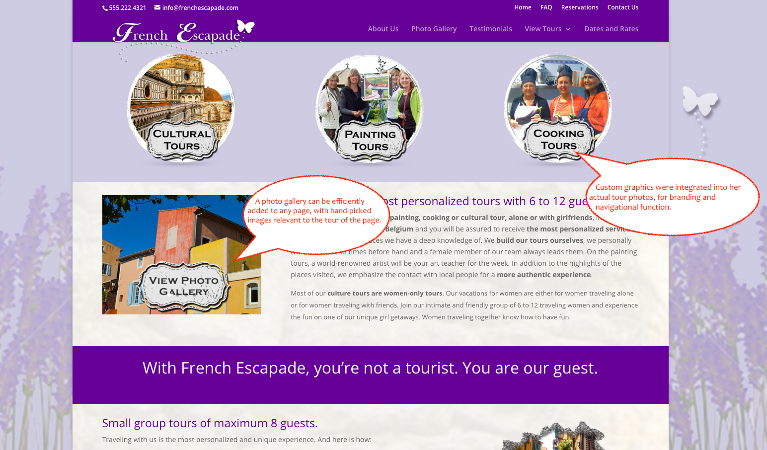 French Escapade Photo Gallery - Another Awesome qualiant Web Design Project