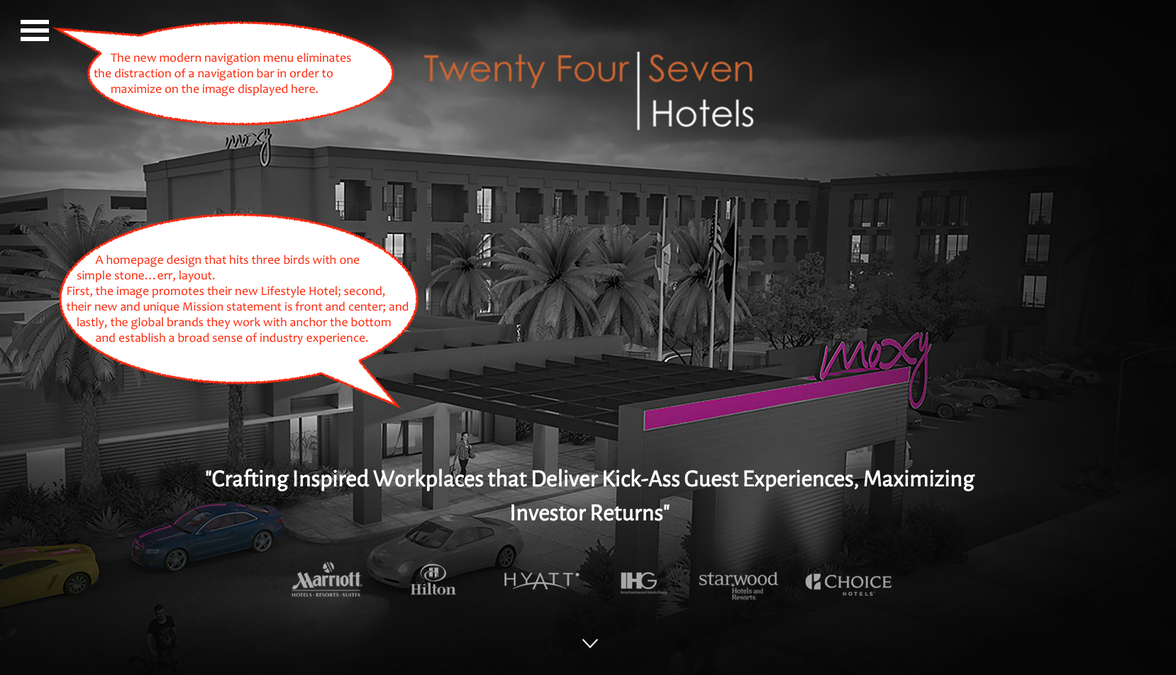 Twenty Four Seven Hotels Home - Another Awesome qualiant Branding Project